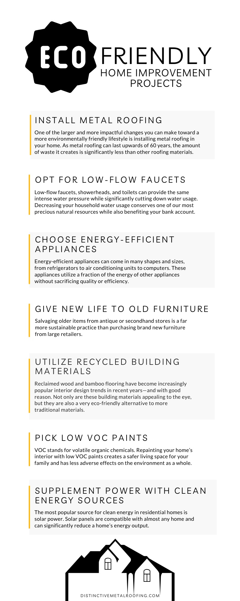 Infographic: Eco-Friendly Home Improvement Projects